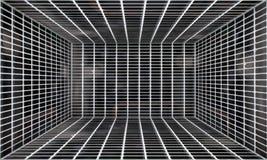 Cerca Urban Interior Stage del metal Foto de archivo libre de regalías