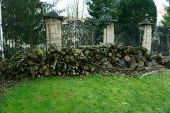 Cerca velha do castelo Fotografia de Stock