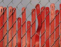 Cerca vermelha Slipping Foto de Stock
