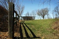 Cerca vieja de la granja Imagenes de archivo