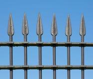 Cerca vieja del hierro labrado Imagen de archivo