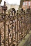 Cerca vieja, oxidada del hierro labrado Fotografía de archivo libre de regalías