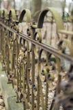 Cerca vieja, oxidada del hierro labrado Fotos de archivo libres de regalías