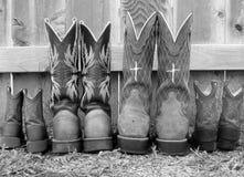 Cerca y botas Imagen de archivo libre de regalías