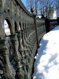 Cerca y nieve Fotos de archivo
