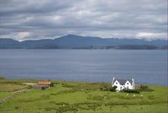Cercado aislado, Escocia Imagen de archivo libre de regalías