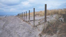 Cercado en la playa Fotografía de archivo libre de regalías