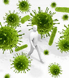 Cercado por germes em toda parte ilustração stock