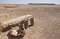 Cercanías áridas de Ksar Ait Ben Haddou, Marruecos Foto de archivo libre de regalías