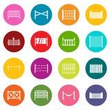 Cercando ícones grupo de muitas cores Foto de Stock