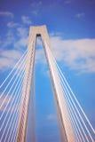 Cercando Arthur Ravenel Jr Ponte a Charleston, Carolina del Sud Fotografia Stock Libera da Diritti