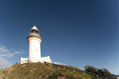 Cercando Byron Bay Lighthouse Fotografie Stock