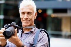 Cercando i buoni tiri Fotografie Stock Libere da Diritti