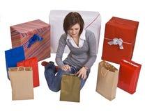 Cercando i regali Fotografia Stock