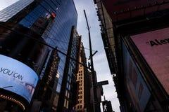 Cercando le costruzioni in New York, twillight Fotografia Stock Libera da Diritti