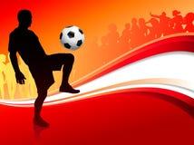 Cercando o esporte no fundo do fogo ilustração royalty free