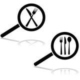 Cercando un ristorante illustrazione di stock
