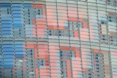 cercano para arriba de ventanas en las glorias de Torre en Barcelona foto de archivo libre de regalías