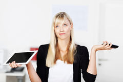 Cercare donna di affari Fotografia Stock
