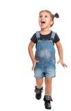 Cercare felice della neonata Fotografia Stock