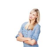 Cercare femminile Fotografia Stock Libera da Diritti
