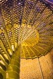 Cercare a spirale delle scale del faro di Barnegat Fotografie Stock