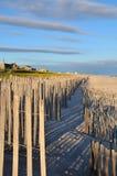 Cercas de la duna Imagen de archivo libre de regalías