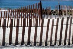 Cercas de la duna Imágenes de archivo libres de regalías