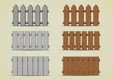 Cercas de madeira Ilustração Royalty Free