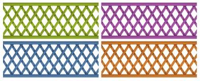 Cercas de madeira coloridas Fotografia de Stock