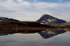 Cercas do gado nas costas de um lago Lapland imagens de stock royalty free
