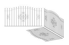 Cercas, forjamento, metal isolado ilustração do vetor