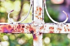Cercas oxidadas do metal Imagens de Stock Royalty Free