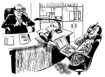 Cercatore impudente del job royalty illustrazione gratis