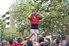 cercavila del festa专业写作的s vilafranca 免版税库存照片