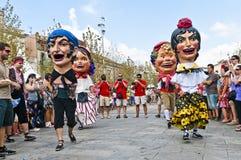 Cercavila Festa Major Vilafranca del Penedés Royalty-vrije Stock Fotografie
