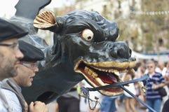 Cercavila Festa Major Vilafranca del Penedés Stock Images