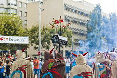 Cercavila Festa Major Vilafranca del Penedés Royalty Free Stock Images