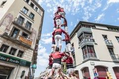 Cercavila performance in Vilafranca del Penedes Royalty Free Stock Photography
