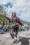 Cercavila performance within Vilafranca del Penedes Festa Major Royalty Free Stock Images