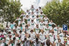 Cercavila performance within Vilafranca del Penedes Festa Major Royalty Free Stock Images