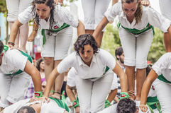 Cercavila performance within Vilafranca del Penedes Festa Major Stock Photos