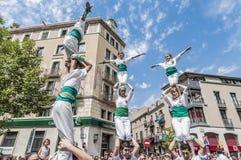 Cercavila performance within Vilafranca del Penedes Festa Major Stock Images