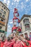 Cercavila performance within Vilafranca del Penedes Festa Major Stock Photography