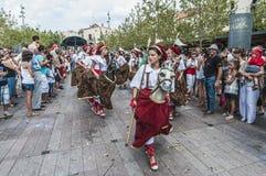 Cercavila performance within Vilafranca Festa Majo Stock Images