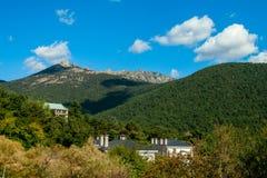 Cercedilla Landscape. Hiking through the Sierra de Madrid Royalty Free Stock Images