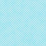Cerceta brilhante e polca pequena branca Dots Pattern Repeat Background ilustração royalty free
