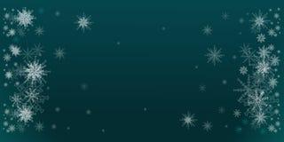Cerceta da ilustração do inverno com quinquilharias dos flocos de neve Natal, contexto do ano novo ilustração do vetor