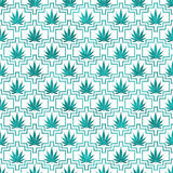 Cerceta e fundo branco da repetição do teste padrão da telha da marijuana ilustração royalty free