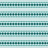 Cerceta e vagabundos brancos da repetição de Dot Abstract Design Tile Pattern da polca ilustração stock
